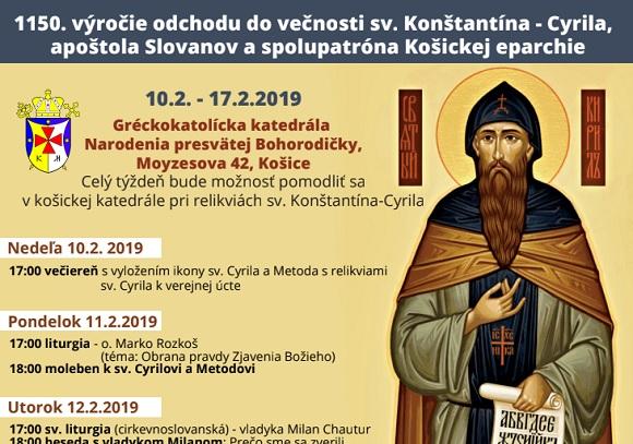 Relikvie sv. Konštantína-Cyrila budú vystavené v košickej katedrále