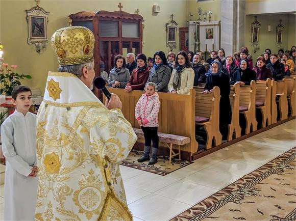 Vladyka Milan Chautur navštívil farnosť Dvorianky